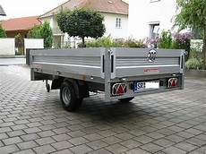 Pkw Anhänger Gebraucht Gebremst - pkw anh 228 nger w 246 rmann hochlader actos 1325 151 1300 kg