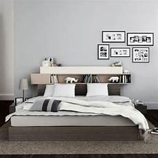 mensole per camere da letto letto con testata e mensole 140 x 200 by vox