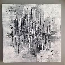 tableau moderne noir et blanc tableau abstrait noir et blanc quot temp 234 te quot 50x50