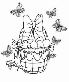 Malvorlagen Ostern Quiz Kostenlose Malvorlage Ostern Gef 252 Llter Osterkorb Und