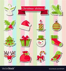 of merry christmas stickers royalty free vector image