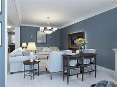 wohnzimmer blau grau best living room colors and color combinations 2020
