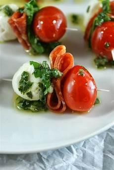 authentic suburban gourmet pepperoni caprese bites with basil vinaigrette friday bites