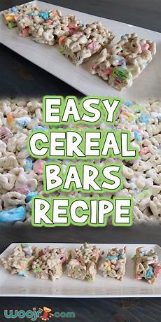 easy cereal bars recipe woo jr kids activities