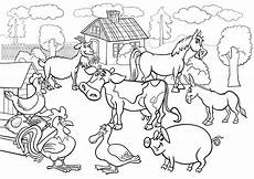 Malvorlagen Gratis Bauernhof Farm Coloring Pages Free Printable At Getdrawings Free