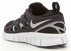 nike free run 2 gs black white running trainers 443742 021