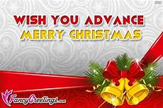 wish you advance merry christmas