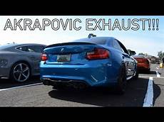 bmw m2 w akrapovic exhaust amazing sound youtube