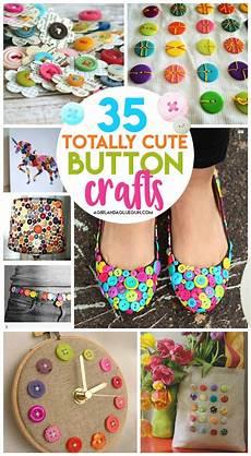 35 button crafts a and a glue gun