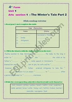 the winter s tale worksheets 20112 the winter 180 s tale part 2 esl worksheet by teyssir