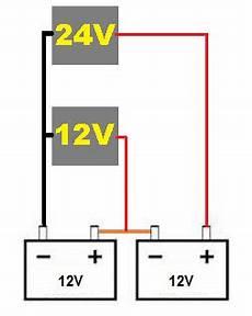 lassen sich 2 ger 228 te mit 12v bzw 24v gleichzeitig an