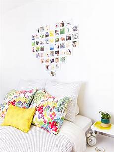 framed photo wall collage hearts