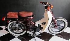 Modifikasi Honda C70 Chopper by Modifikasi Honda C70 Original Cubs Drag Bike Chopper