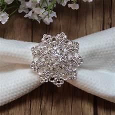 free shipping wholesale 20pcs lot rhinestone napkin ring serviette holder wedding decoration