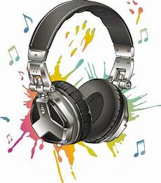 Stickers Casque Audio Notes Multicolore Pas Cher