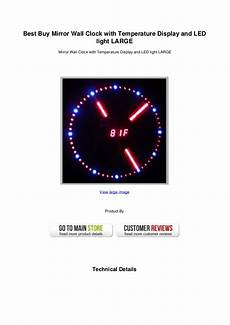 best buy mirror wall clock with temperature display and led light lar