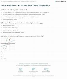 quiz worksheet non proportional linear relationships study com