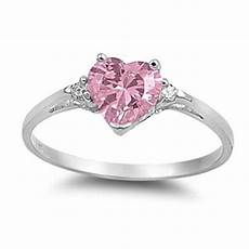 0 50ct pink diamond russian cz heart shape 925 sterling silver promise ring love