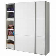 portes de coulissantes pas cher armoire 2 portes coulissantes blanc laqu 233 brillant