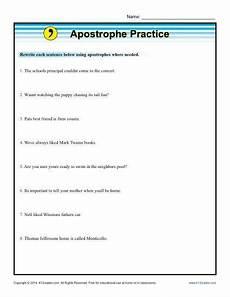 punctuation worksheets k12 20817 apostrophe practice k12 punctuation worksheets worksheets grammar activities