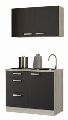 Miniküche Mit Geräten - optifit minik 252 che anthrazit mit e ger 228 te breite 100 cm