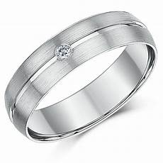 palladium ring 950 diamond engagement wedding 6mm band ebay