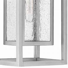 hinkley republic 16 quot high satin nickel outdoor wall light