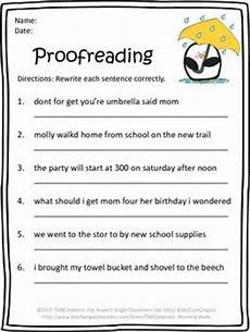 printable editing worksheets free printable proofreading worksheet