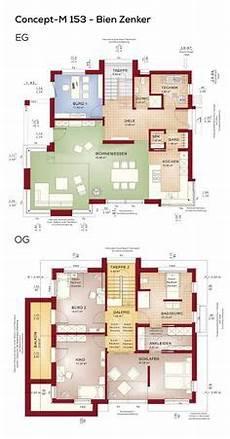 Grundrisse Stadtvilla 160 Qm - grundriss design haus modern mit galerie satteldach
