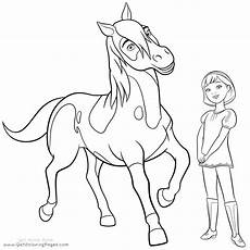 kleurplaat spirit en lucky kleurplaat wilde paarden leuk
