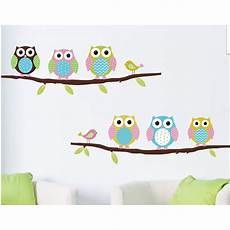 Jual Wallpaper Stiker Tembok Burung Hantu Owl Kartun