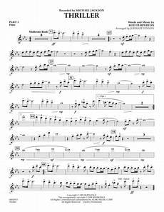 download thriller pt 1 flute sheet music by michael