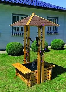 puits de jardin d 233 coratif en bois trait 233 quot oasis quot syma