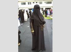 Gold Detailed Abaya with Niqab and Gloves   Niqab, Hijab