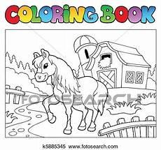 Ausmalbild Pferde Bauernhof Clipart Ausmalbilder Mit Bauernhof Und Pferd