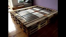 bett selber bauen paletten doppelbett aus europaletten
