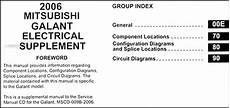 2006 mitsubishi galant wiring diagram manual original