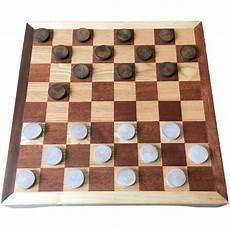 jeu de avec pions en rondelles de bois bicolore