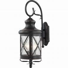 volume lighting medium 4 light black indoor outdoor copper aluminum l lantern candle style
