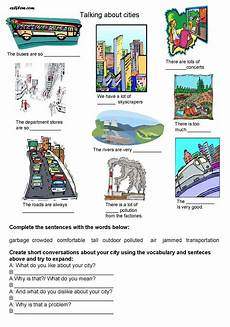 describing places worksheets printables 15977 talking about cities esl worksheet eslflow