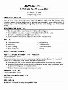 regional sales manager manager resume resume exles