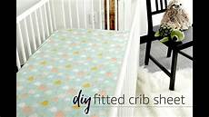 diy fitted crib sheet tutorial youtube