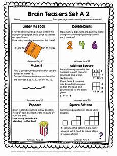 riddle worksheets for grade 5 10905 260 best math images on math 4 and board