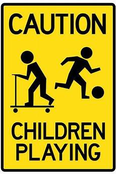 caution children sign poster poster at allposters