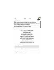 poetry repetition worksheets 25346 elements of poetry worksheet teachers pay teachers