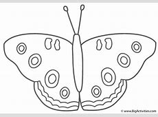 Buckeye Butterfly   Coloring Page (Insects)
