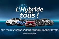 publicité voiture 2017 hybride pour tous toyota part en cagne pour
