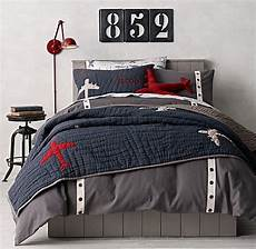 grommet twill tape vintage airplane blueprint bedding