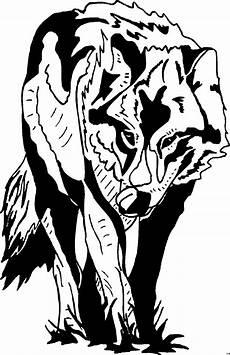 wolf vorne ausmalbild malvorlage tiere