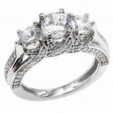 three stone engagement rings wedding and bridal inspiration